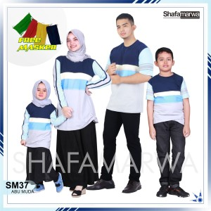 Harga sarimbit shafamarwa 37   abu muda kaos couple baju keluarga   anak lk   HARGALOKA.COM