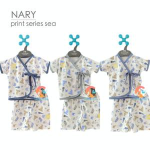 Harga nary setelan baju bayi kimono pendek amp celana pendek print series   sea light | HARGALOKA.COM