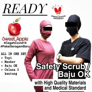 Harga baju ok baju operasi baju scrub baju oka lengan pendek   xl tanpa | HARGALOKA.COM