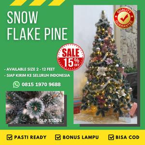 Info Pinus Paket Isi 6 Hiasan Pohon Natal Salju Dekorasi White Christmas Katalog.or.id