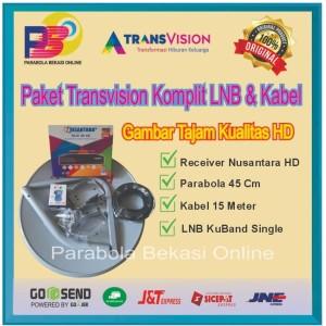 Harga paket transvision nusantara hd plus lnb dan | HARGALOKA.COM