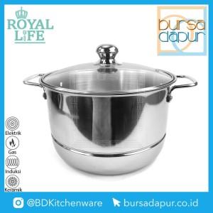 Harga royal life stainless langseng steamer pot kukusan stainless 24 | HARGALOKA.COM