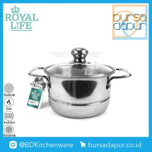 Harga royal life stainless langseng steamer pot mini kukusan mini 16 | HARGALOKA.COM
