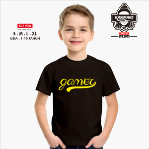 Harga kaos baju anak game gamer simple kaos game   | HARGALOKA.COM