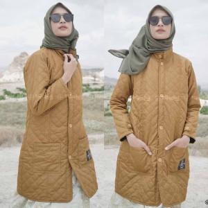 Harga jaket jacket wanita cewek panjang muslimah hijaber hijacket blv marigo   | HARGALOKA.COM