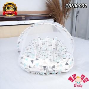 Harga kasur bayi perahu motif segitiga putih new perlengkapan tidur bayi   HARGALOKA.COM