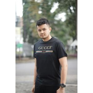Harga contoh model kaos gucci basic black kaos pria baju pria atasan | HARGALOKA.COM