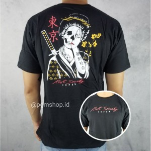 Harga kaos t shirt society hitam distro pria wanita kaos murah | HARGALOKA.COM