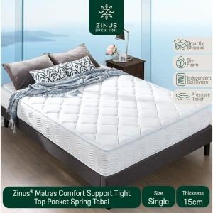 Harga zinus kasur 15cm tight top pocket spring   ukuran single | HARGALOKA.COM