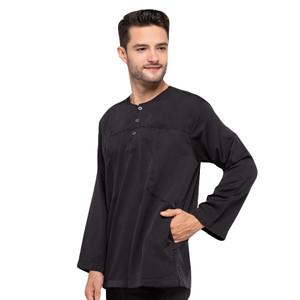 Harga shohib baju koko kemeja muslim kurta jumbo   hitam | HARGALOKA.COM