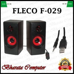 Harga speaker computer fleco f 029 usb laptop komputer speaker | HARGALOKA.COM