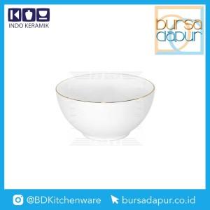Harga bursa dapur indo keramik gold lining mangkok nasi 4 5 34 mk 4 5   HARGALOKA.COM