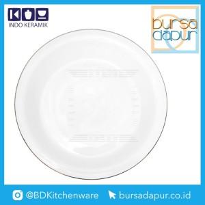Harga bursa dapur indo keramik gold lining single dinner plate 10 34 pc 10a   HARGALOKA.COM