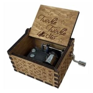 Info Kotak Musik Vintage Wooden Music Box Beauty The Beast Twinkle Star Katalog.or.id