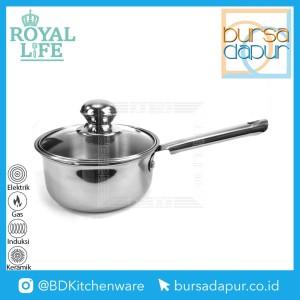 Harga royal life stainless saucepan 14 cm panci stainless susu mini 14 cm   | HARGALOKA.COM