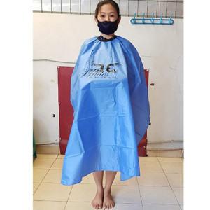 Harga terbaru kain baju kep kip alas cukur potong pangkas rambut biru | HARGALOKA.COM