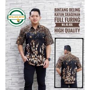 Harga bintang deling kemeja batik pria lengan pendek atasan batik by ab   | HARGALOKA.COM
