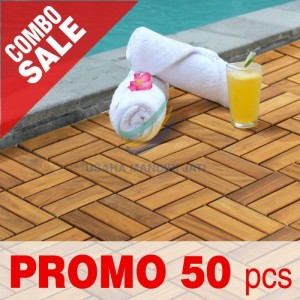Harga decking tile lantai kayu jati flooring ukuran 30 x 30 cm 50pcs model | HARGALOKA.COM
