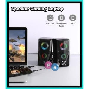 Harga ns   speaker aktif stereo gaming led rgb flow lighting effect   HARGALOKA.COM