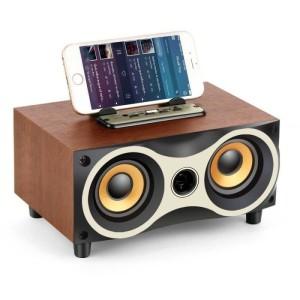 Harga speaker portable bluetooth toproad subwoofer fm wood 2000mah     HARGALOKA.COM