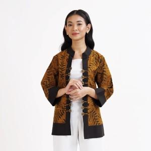 Harga nona rara   jenny sogan t0698 baju atasan kerja blouse batik wanita   | HARGALOKA.COM