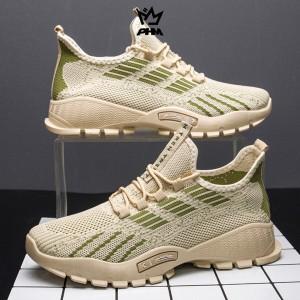 Harga sepatu sneakers pria sepatu olahraga pria sepatu kasual ss306   khaki | HARGALOKA.COM