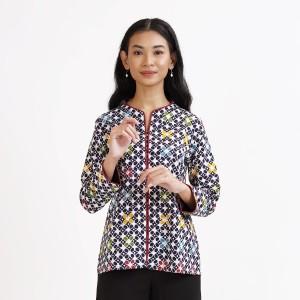 Harga anjani wng t0710 baju atasan kerja blouse batik wanita modern   | HARGALOKA.COM