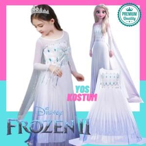 Harga baju kostum princess anak elsa frozen 2 putih dress gaun kostum white   | HARGALOKA.COM