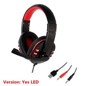 Harga gaming headphone headset led light with mic original murah   hanxi ch1     HARGALOKA.COM
