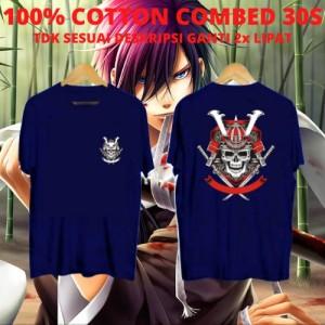 Harga kaos keren cowok ronin skull navy kaos anime kaos kartun | HARGALOKA.COM