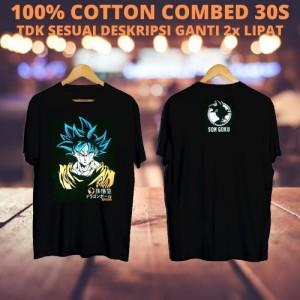Harga kaos keren cowok son goku black kaos kartun tshirt | HARGALOKA.COM