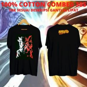 Harga kaos keren cowok naruto red shadow black kaos anime baju | HARGALOKA.COM