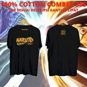 Harga kaos keren cowok gold logo naruto tshirt anime baju | HARGALOKA.COM