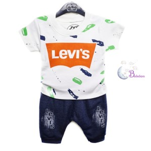 Harga baju bayi casual lev1 39 s denim setelan | HARGALOKA.COM