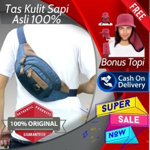 Harga tas kulit waistbag waist bag pria slempang cowo kualitas premium new   | HARGALOKA.COM