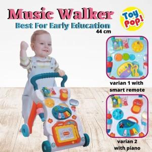 Harga mainan bayi dorong bantu bayi latihan jalan music walker baby walker   piano | HARGALOKA.COM