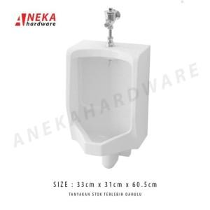 Harga urinoir toto u57 complete set flush valve local | HARGALOKA.COM