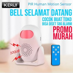 Harga kerui m120 pir motion sensor gerak welcome bell alarm rumah | HARGALOKA.COM