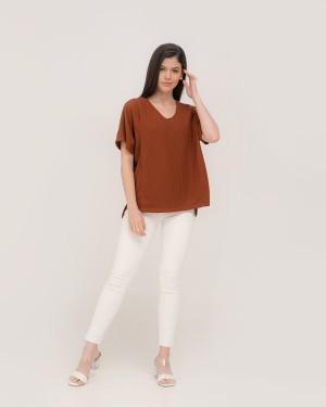Harga inaya brown blouse   baju ibu hamil dan | HARGALOKA.COM