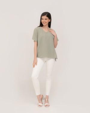 Harga inaya sage green blouse   baju ibu hamil dan | HARGALOKA.COM