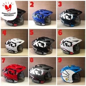 Harga promo helm motor sni premium murah keren allsize   1 hitam merah   HARGALOKA.COM
