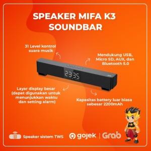 Harga speaker bluetooth wireless xiaomi mifa k3 mini tv soundbar tws 5wx2   | HARGALOKA.COM