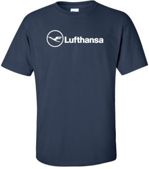 Harga kaos distro lufthansa maskapai penerbangan baju tshirt pesawat | HARGALOKA.COM