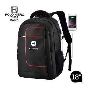 Harga tas polo hiero 71002 18 inch tas pria sekolah tas ransel   | HARGALOKA.COM