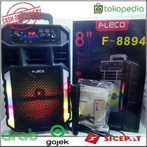 Harga speaker karaoke fleco f 8894 speaker bluetooth with microfon | HARGALOKA.COM