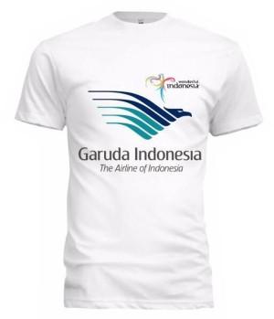 Harga kaos garuda indonesia 02 logo warna   baju tshirt pesawat maskapai   | HARGALOKA.COM