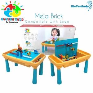 Harga meja brick building block activity desk bloks included bricks 300 pcs   meja lego   HARGALOKA.COM