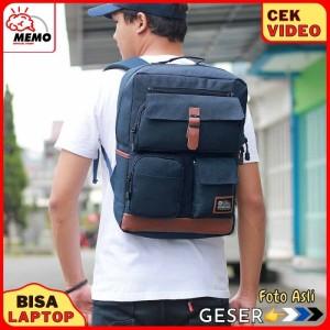 Harga tas ransel pria murah dolby 412 tas laptop tas backpack pria keren | HARGALOKA.COM