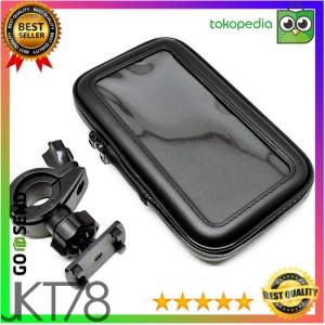 Harga universal bike mount with waterproof case for smartphone 5 5 6 inch   | HARGALOKA.COM