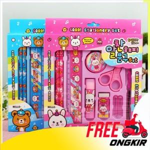 Harga peralatan tulis set sekolah anak anak stationery perlengkapan | HARGALOKA.COM